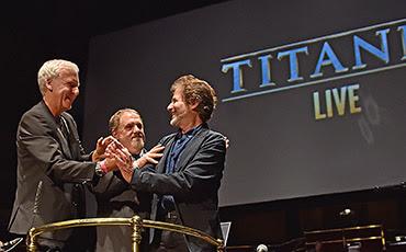 James Cameron and James Horner