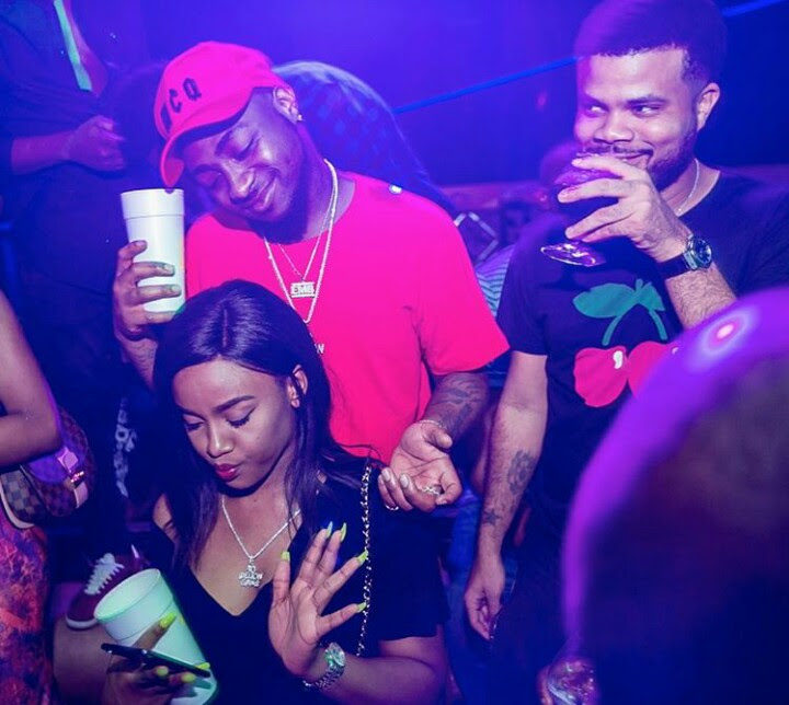 Photos of Davido with His New Girlfriend, Chioma At A Club