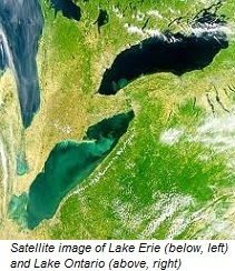 Great Lakes satellite image