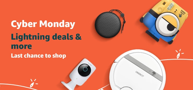 Cyber Monday Lightning deals & more. Last chance to shop.
