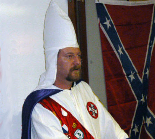 Loyal White Knights of the KKK Imperial Wizard and undercover FBI agent Christopher Barker of North Carolina