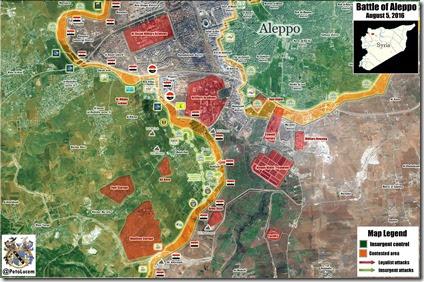 Aleppo - 75 - Zuidwesten - Militaire situatie  - 5 augustus 2016
