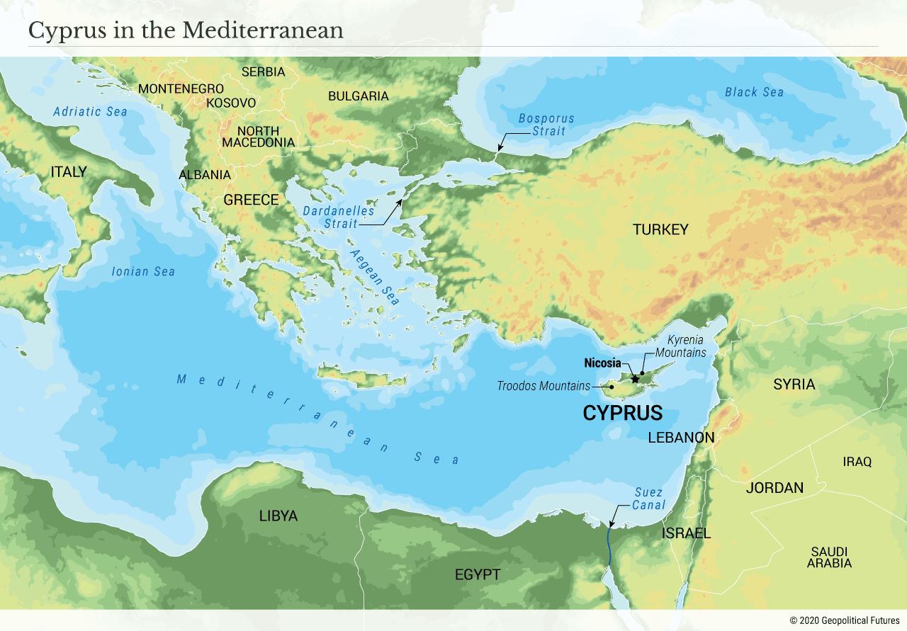 Cyprus in the Mediterranean