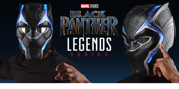 MARVEL LEGENDS BLACK PANTHER 1:1 SCALE WEARABLE HELMET