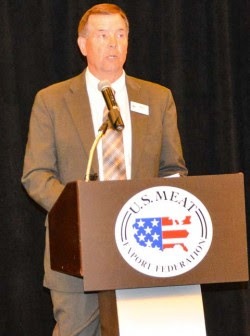 USMEF Chairman Bruce Schmoll welcomes members to Arlington, Virginia