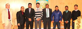 Second place: AgriVeda Project: Sanjay Paudel, Adam Manandhar, Samir Karki, Surendra Maharjan, Hari K. Chaudhary, Shyamu Neupane