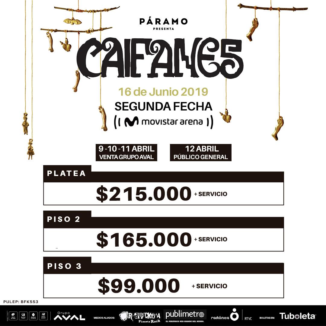 SALEN A LA VENTA LAS ENTRADAS PARA EL SEGUNDO SHOW DE CAIFANES
