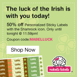 50% Off Shamrock Sticky Labels...