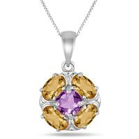 Fall Citrine and Amethyst Pend...