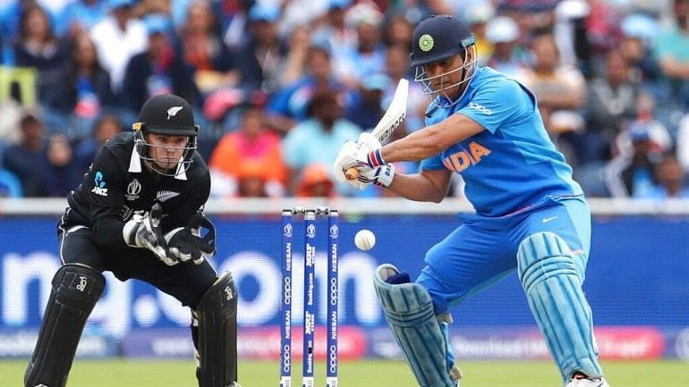 MS Dhoni tried his best to win the game for India against New Zealand.