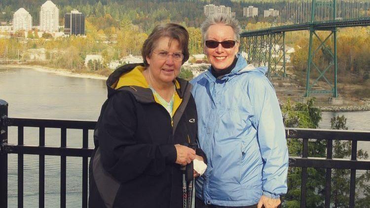 Helen Medsger and her sister, Maureen Shaw