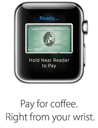 Pay for coffee. Right from your wrist.