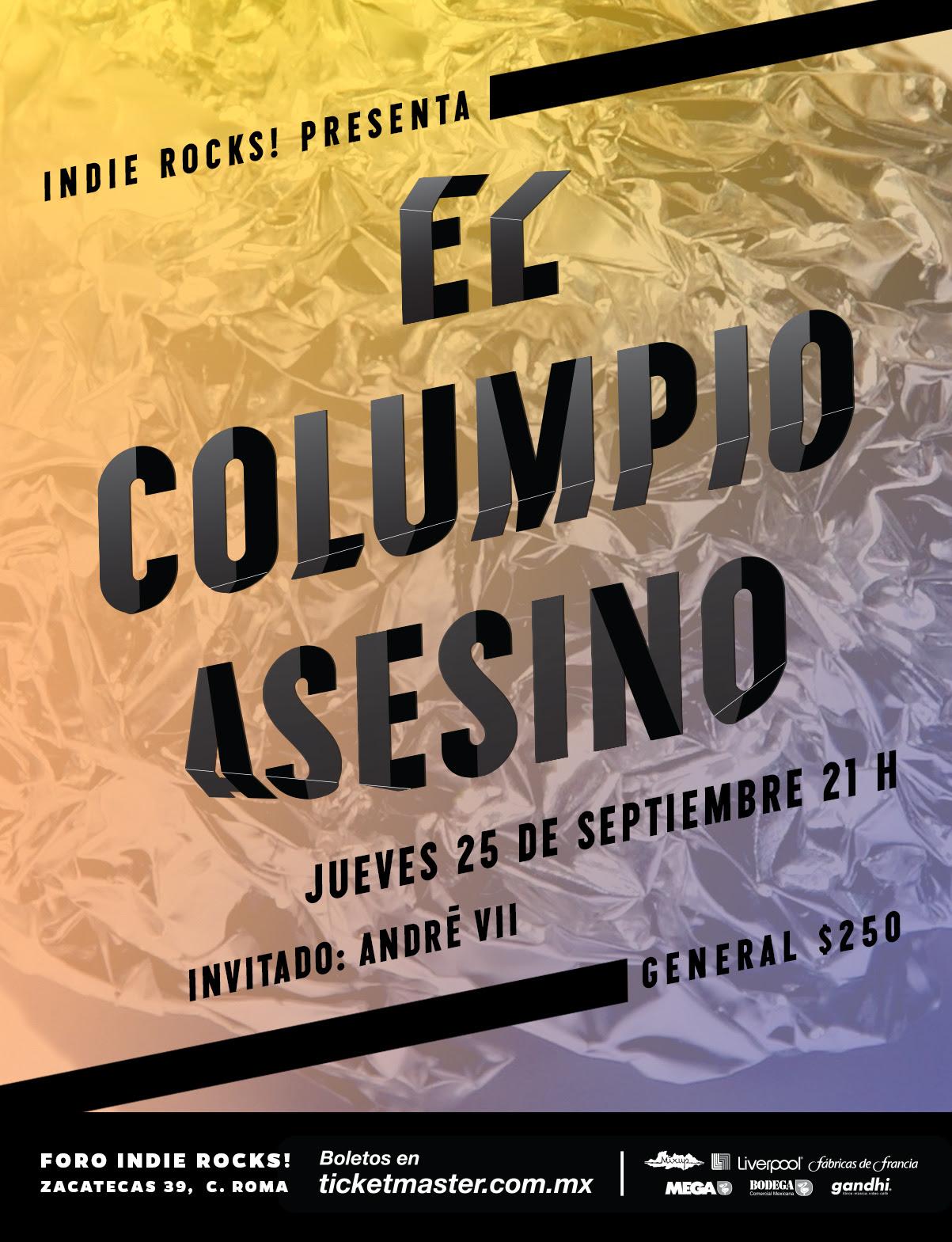 El Columpio Asesino visita la ciudad de México este mes