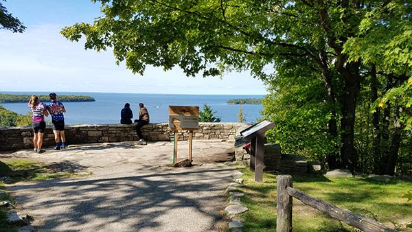 Selfie Stand at Peninsula State Park in Door County