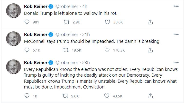 Idiotic Rob Reineer tweets