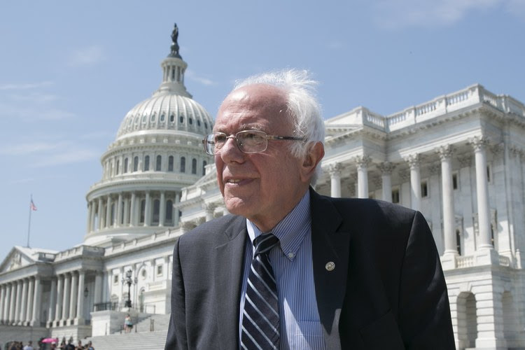 Sen. Bernie Sanders (I-Vt.) walks outside the Capitol. (Michael Reynolds/European Pressphoto Agency)