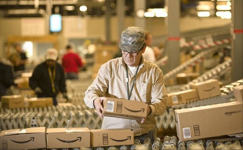 Almacén y distribución de Amazon