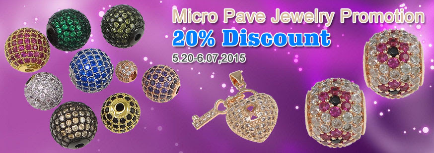 20% discount for micro pave jewelry at beads.us