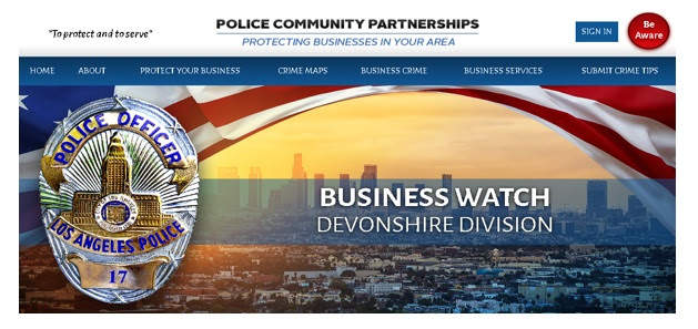 LAPD Devonshire Division Launches New E-Business Website