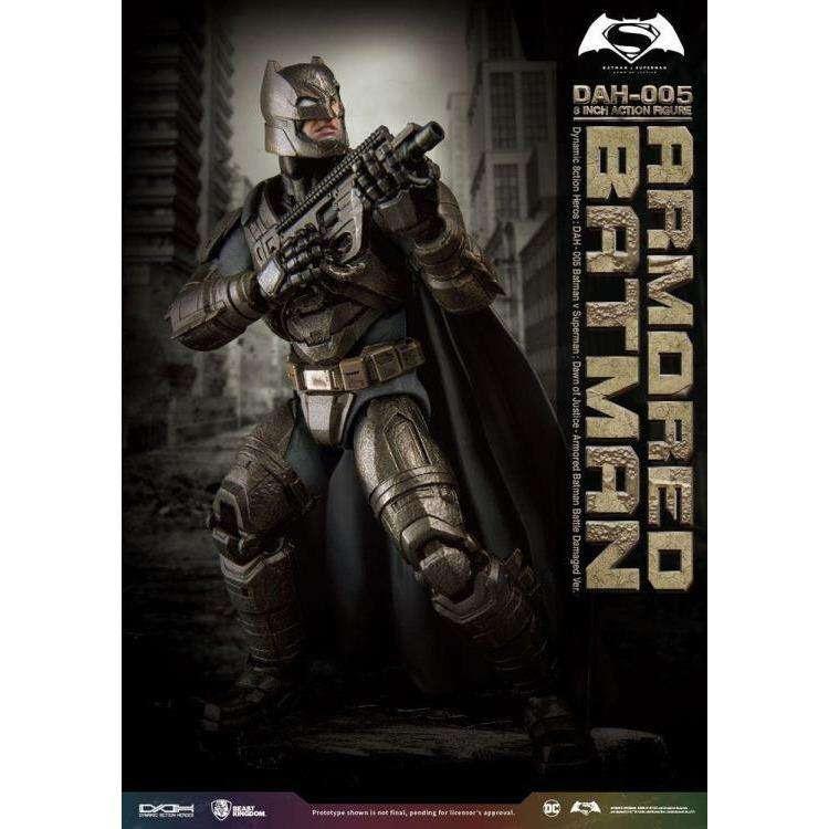 Image of Batman v Superman Dynamic 8ction Heroes DAH-005 Armored Batman (Damaged Ver.) PX Previews Exclusive