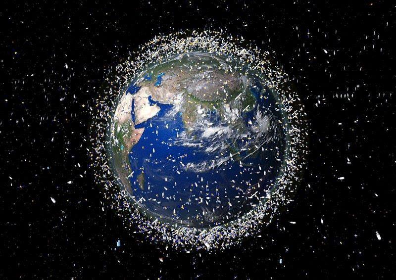 Desechos espaciales. Foto Agencia Espacial Europea