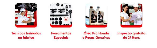 Tecnicos treinados na fábrica - Ferramentas Especiais - Óleo pro Honda e Peças genuínas - Inspeção gratuita de 27 itens