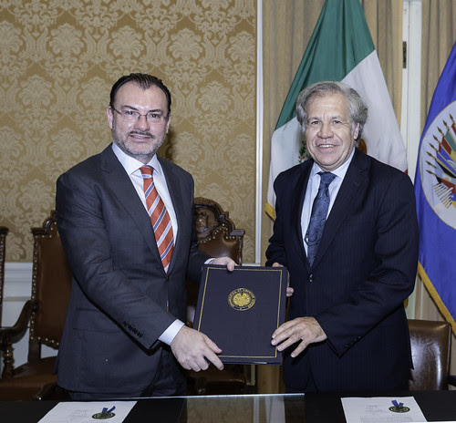 México firma la Convención Interamericana contra toda forma de Discriminación e Intolerancia de la OEA