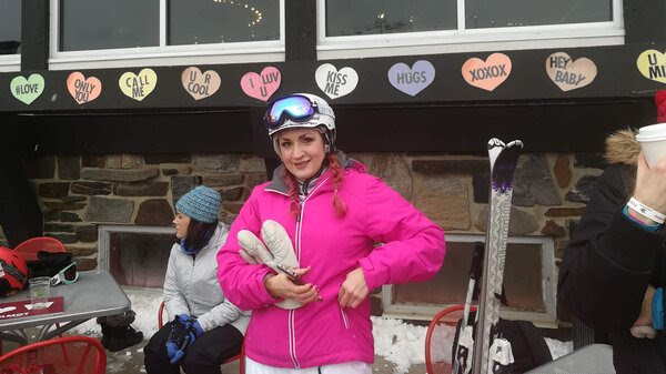 Michelle Kamke of Madison, Wis., at Wilmot Ski Resort's speed dating event.