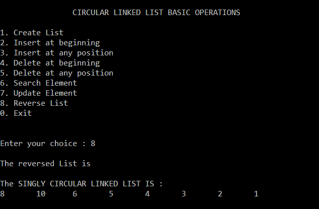 circular-singly-linked-list-reversing-list