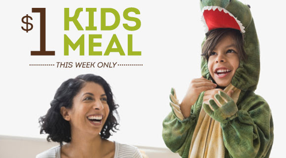 $1 KIDS MEAL. THIS WEEK ONLY.