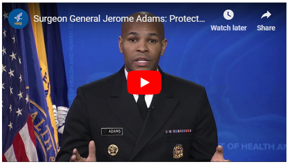 YouTube video of Surgeon General's warning against measles