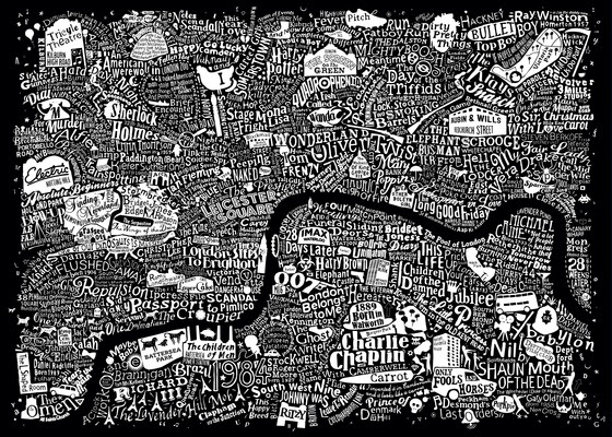 LONDON FILM MAP LARGE (black)