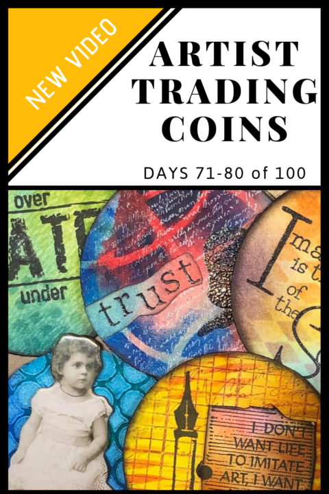 Video of Artist Trading Coins ATC Days 71-80 of 100 (Marjie Kemper)