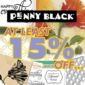 Get up to 50% off Penny Black!