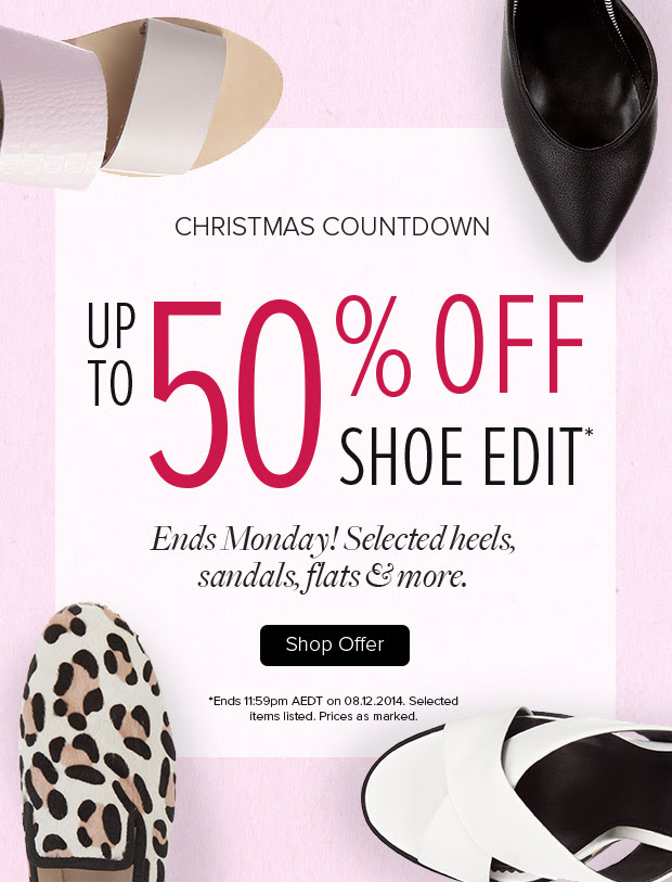 Christmas countdown, save up to 50% off select shoes styles at TheIconic.com.au