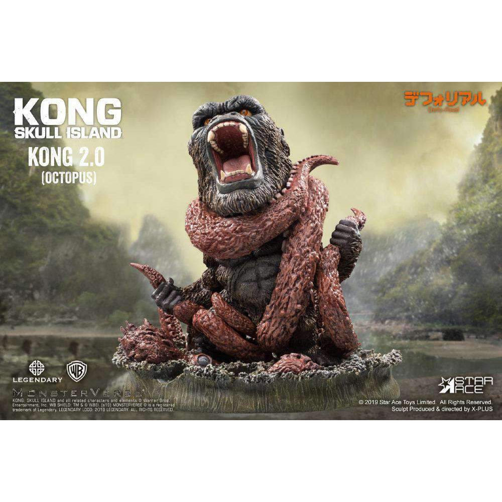 Image of Kong: Skull Island Deform Real Series Kong Vs. Giant Octopus - Q4 2019