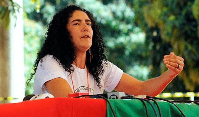Marina dos Santos, de la dirección nacional del Movimiento de Trabajadores Rurales Sin Tierra (MST)  - Créditos: Marcello Casal Jr./ABr