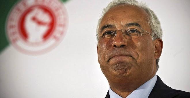 El secretario general del Partido Socialista Portugués, Antonio Costa, tras las elecciones generales.