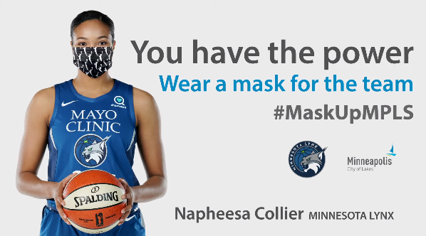 Mask UP Graphic with Timberwolves