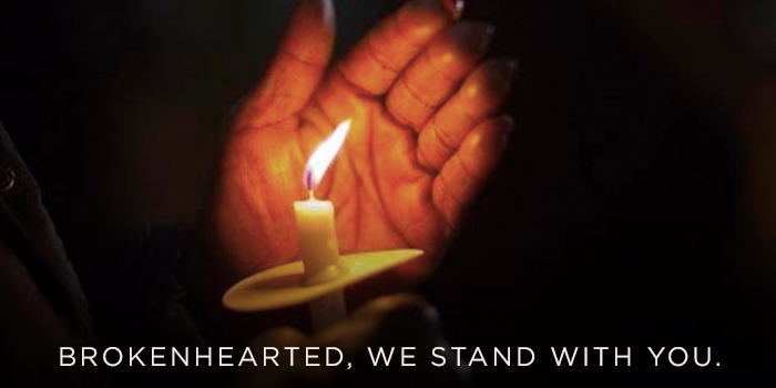 Graphic image: Brokenhearted, we stand with you