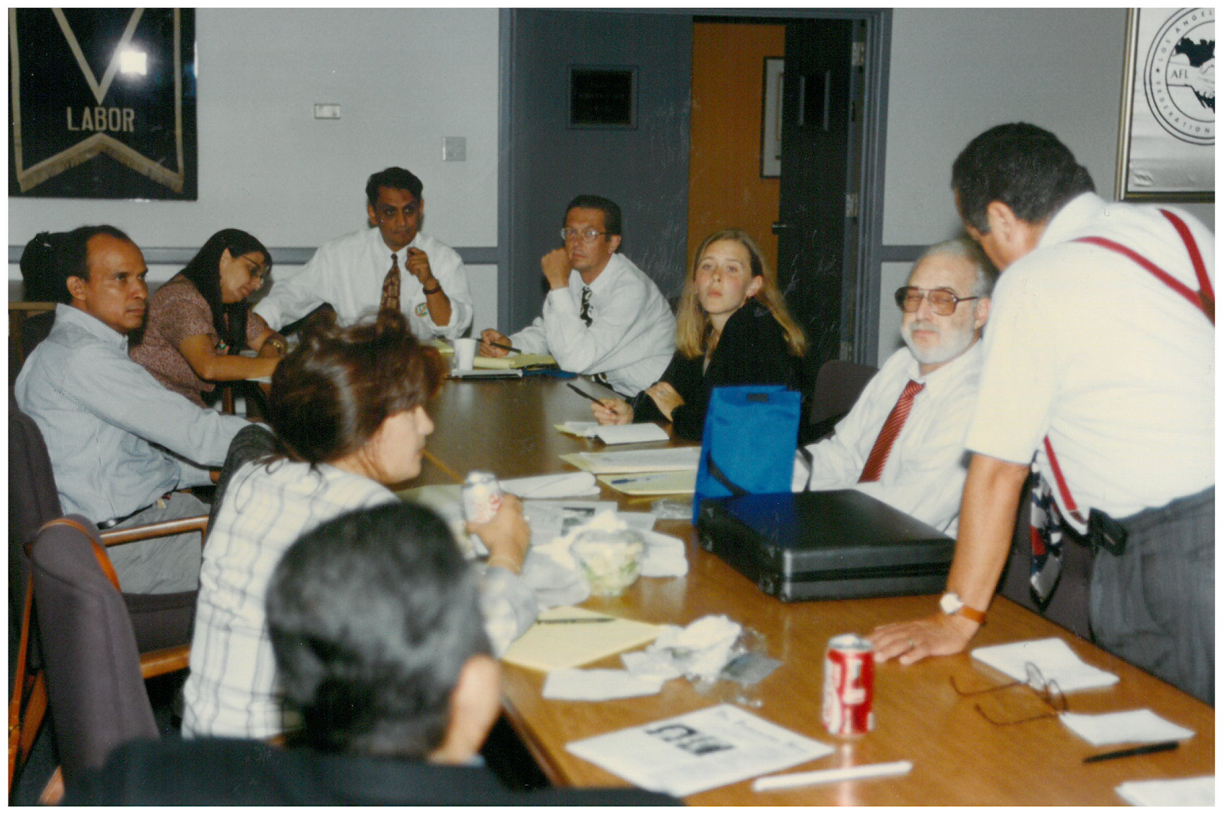 Prop 187 1994 Planning Meeting Photo