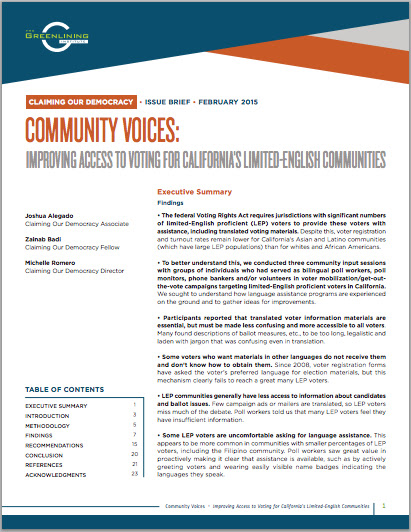 Download Community Voices Issue Brief