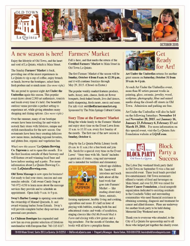 Old Town News Oct 2015