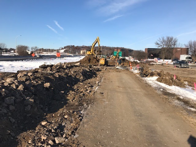 Excavation for Highway 62 LRT Tunnel in Eden Prairie
