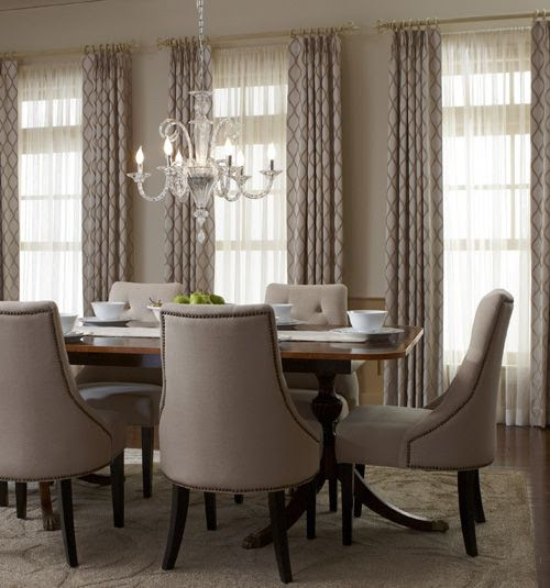 Fashionable meets functional with these crisp drapery panels. Complete the look of your dining room with elegant drapery panels in classic colors or bold patterns.: