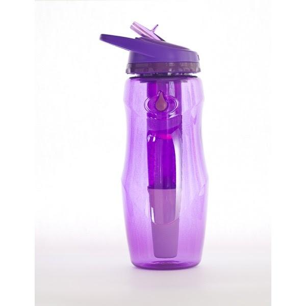 Sticla de apa cu filtru de carbon si gel de racire non toxic, 946 ml MOV - Irisana