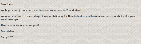 Cloudeight Stationery for Thunderbird - Just Textures