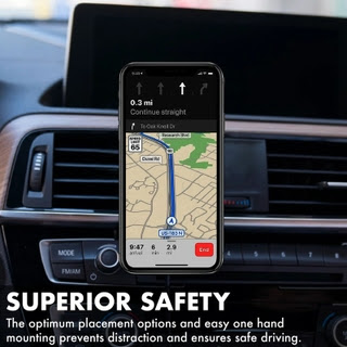 Provides In-Car Wireless Charging for Your Compatible Device