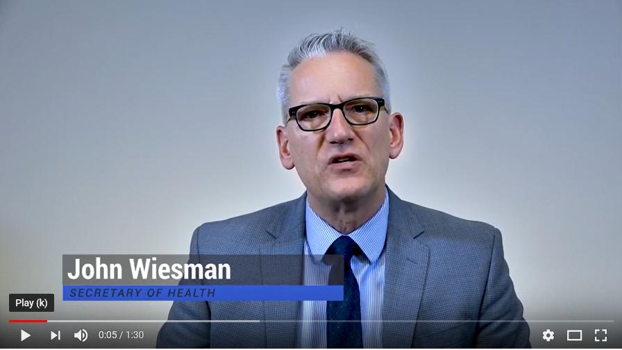 Screenshot of John Wiesman video