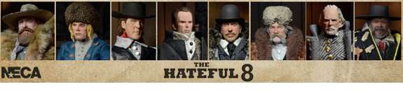 The Hateful Eight - Clothed Figures - Case of 8
